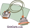 Vector Clip Art image  of a Computer cables