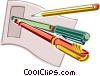writing instruments Vector Clipart picture