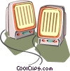 Computer speakers Vector Clip Art image