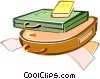 Vector Clipart picture  of a briefcases