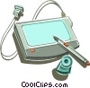 graphics tablet Vector Clip Art graphic