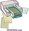 Vector Clipart image  of a Computer printer