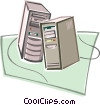 Computer towers Vector Clipart picture