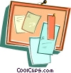 message board Vector Clipart illustration