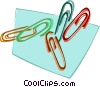 Vector Clip Art picture  of a paperclips