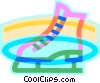 Vector Clip Art graphic  of a Figure skates
