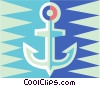 Vector Clip Art graphic  of an Anchor