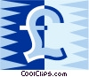 currency symbol British pound sterling Vector Clip Art graphic