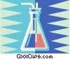 Vector Clip Art graphic  of a beaker