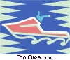 Vector Clipart graphic  of a Personal watercraft