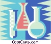 Vector Clipart picture  of a test tubes