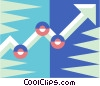Vector Clip Art picture  of an Arrow graph