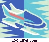 Vector Clip Art graphic  of a Bobsleigh
