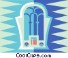 Old radio Vector Clipart illustration