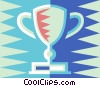 Vector Clipart graphic  of a Trophy