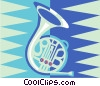 Vector Clip Art image  of a French horn