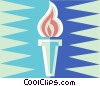 Olympic torch Vector Clip Art picture