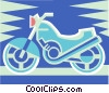 Vector Clipart illustration  of a Street bike