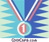 Vector Clip Art graphic  of a Winning medal
