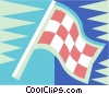 checkered flag Vector Clipart image