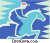 Vector Clipart picture  of a Horse jumping