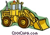 Vector Clip Art graphic  of a front end loader