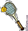 Tennis racket and ball Vector Clipart graphic