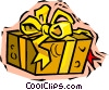 Vector Clip Art graphic  of a gift or present