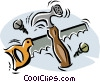 Vector Clip Art image  of a carpentry tools