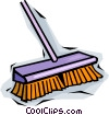 Vector Clip Art image  of a broom