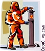Vector Clip Art graphic  of a environmental suit