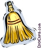 whisk broom Vector Clip Art picture