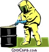 Vector Clip Art graphic  of a toxic chemicals