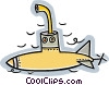 Vector Clipart graphic  of a Navy sub