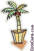 Vector Clipart graphic  of a palm tree