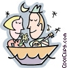 romantic serenade Vector Clipart illustration