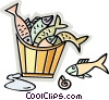 Various Fish Vector Clipart illustration