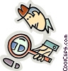 Vector Clipart graphic  of a Investigation and Research