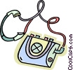 portable stereo Vector Clip Art picture
