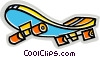 Vector Clip Art graphic  of a Colorful skateboard
