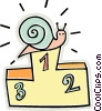 Snail winning first prize Vector Clipart picture