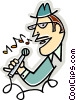 Vector Clipart graphic  of a Singers
