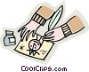 Hands drawing a picture Vector Clip Art picture