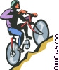 man riding a bicycle Vector Clipart image