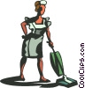 Vector Clipart graphic  of a maid