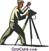 Vector Clip Art picture  of a photographer