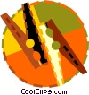 Vector Clip Art image  of a clothes pins