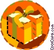 Vector Clipart picture  of a present