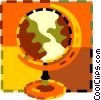 world globes Vector Clip Art picture