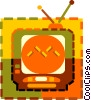 Vector Clipart picture  of a television set